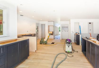 Refinishing the hardwood floor